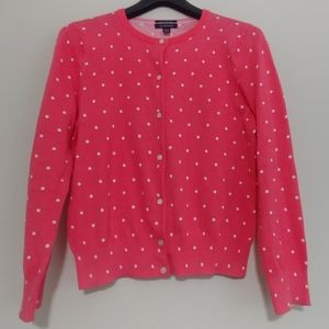 Lands End, Medium Petite Pink Polkadot Sweater